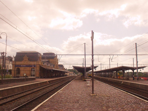 Arlon Station, Belgium, from the platforms