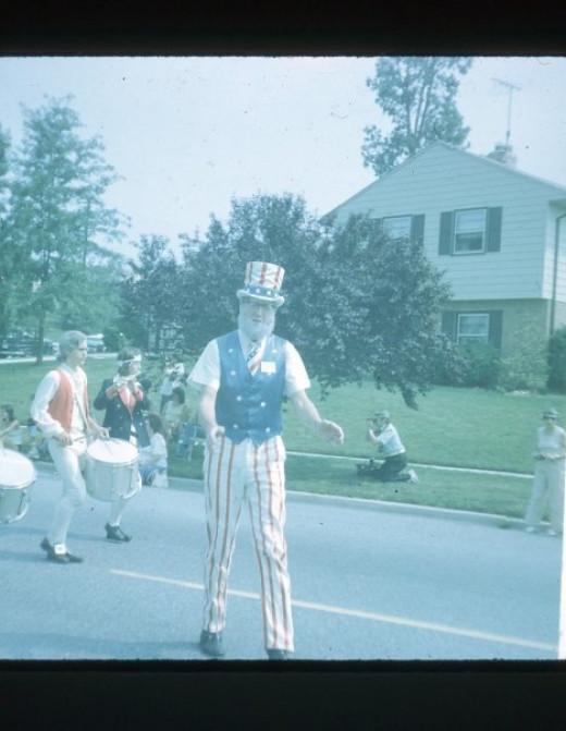 Uncle Sam at July 4th Parade