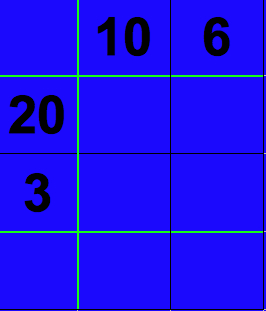 Enter numbers into grid