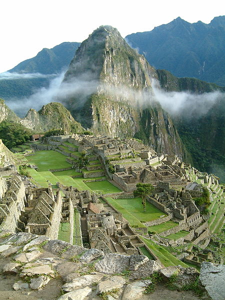 Allard Smith took this photograph of Machu Picchu at sunrise on September 4, 2005 and released it into the public domain worldwide.