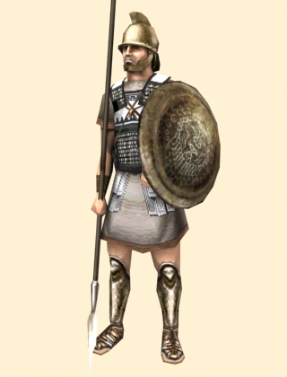 Principes, second rank Roman soldiers, more armored and better armed then Hastati