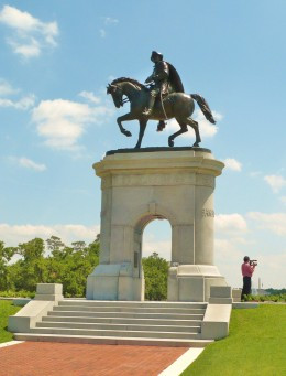 Sam Houston statue in Hermann Park, Houston, Texas