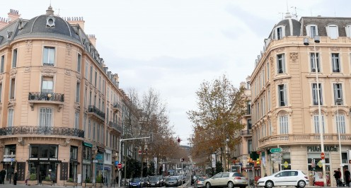 Beginning of Boulevard Carnot, near the station, Cannes