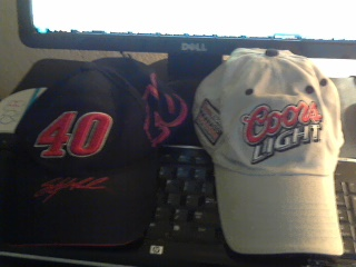 Two Sterling Marlin hats that I own.