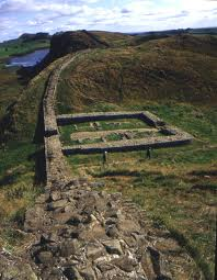 Remains of milecastle foundations. There were around sixty between Wallsend (near Newcastle-upon-Tyne) and Carlisle on the Irish Sea