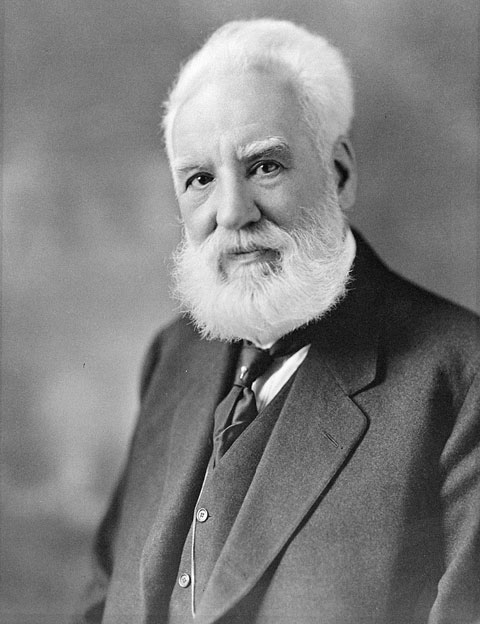 Portrait of Alexander Graham Bell.
