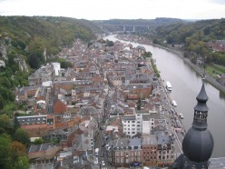 View of the town of Dinant from the Citadel