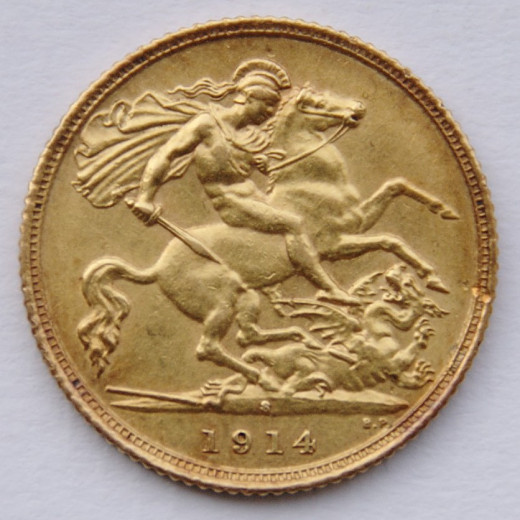 A 1914 British Gold sovereign