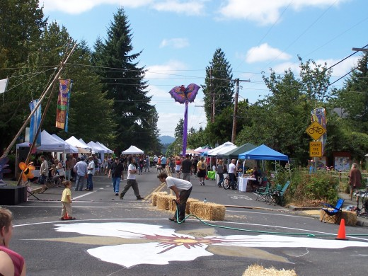 A neighborhood street fair in Olympia