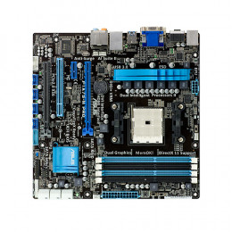 Asus motherboard with basic layout.