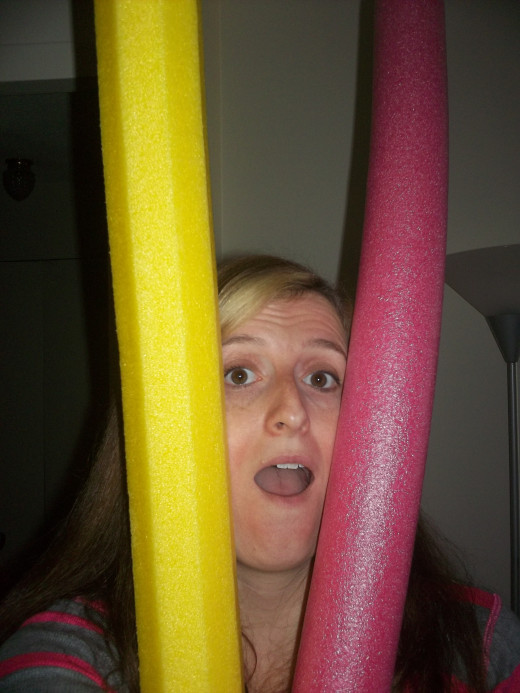 Pool noodles!