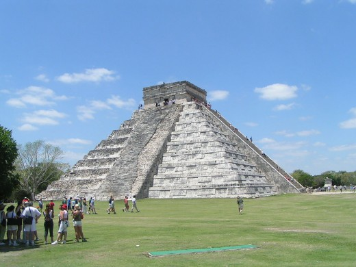 Majestic Aztec Pyramid, known as El Castillo (The Castle)