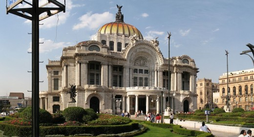 Traditional buildings in Mexico City, related to an Art Museaum
