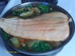 Healthy Fish Recipe:  Mediterranean Salmon
