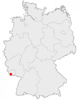 Map location of Voelklingen, Germany
