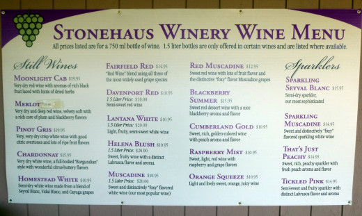 StoneHaus Winery, Crossville, Tennessee