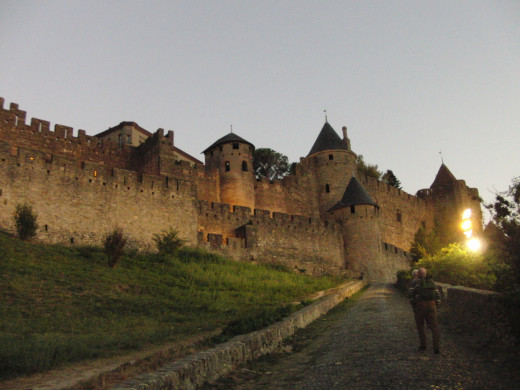 Carcassonne Castle at sunset