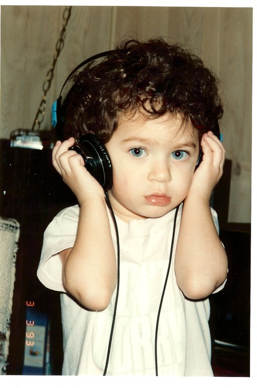 "My baby girl Jasmine listening to ""Heal the World"" in 1993"