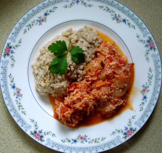 Tasty Tomato Boortha and Simple Coconut Rice