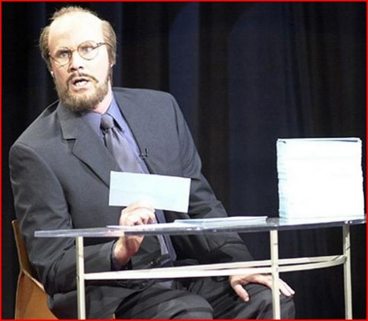 "Combined with the know-it-all artsy flair and mellow-drama of James Lipton from ""Inside the Actor's Studio"""