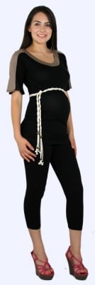 Tops with elasticated sides seams provide lots of growing room. Maternity leggings are a great foundation of your maternity wardrobe because of their mix 'n' match potential.