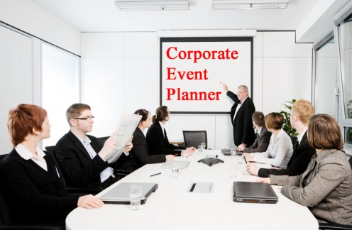 Business meeting planned by a Corporate Event Planner.