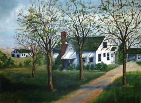 My Grandparents Home -painted by their daughter, JoAnn Bloodworth in the 1970s.