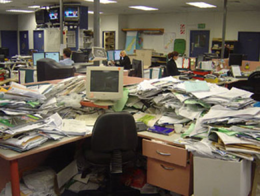 When your desk looks like this... you need to weed out the riff raff.