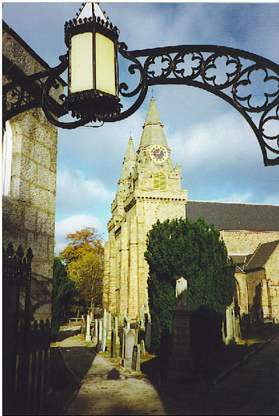 St Machar's Cathedral, Old Aberdeen. This path was part of my walk 'home' to University Halls of Residence from lectures, along the street passed Kings College, then past the Cathedral and across Seton Park. A great way to start or end the day.