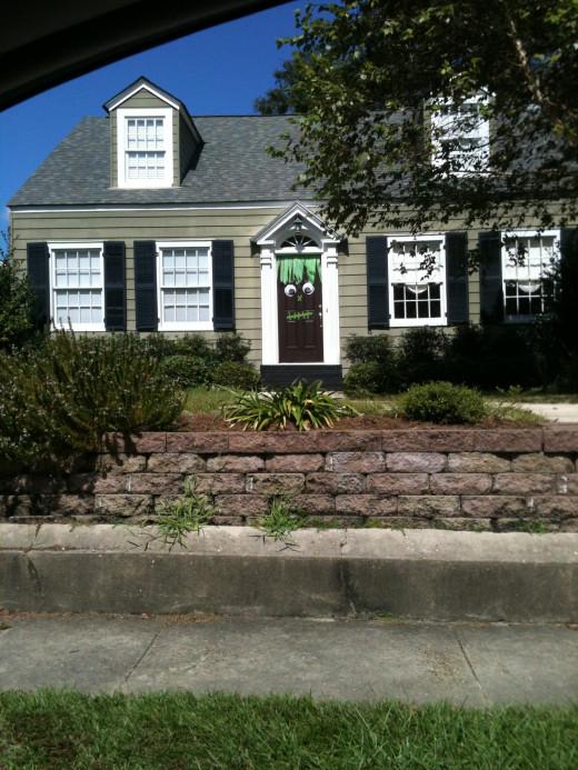 Cute Frankenstein door on Hunter Avenue in Mobile, AL