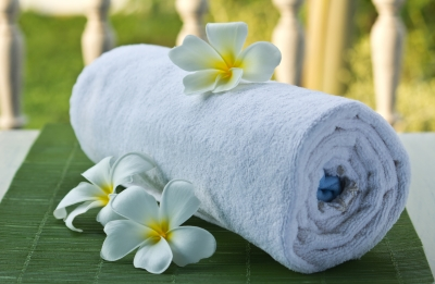 Green your bathroom with eco-friendly towels.