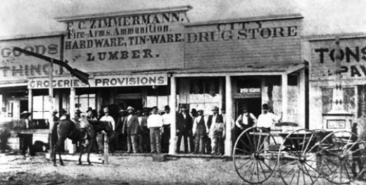 Dodge City, Front Street 1875