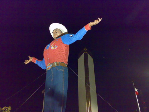 For many years, Big Tex presided over the fun at the State Fair of Texas. He was destroyed in a fire on October 19, 2012.