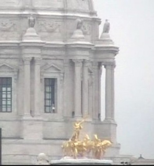 Gold horses on State Capitol.