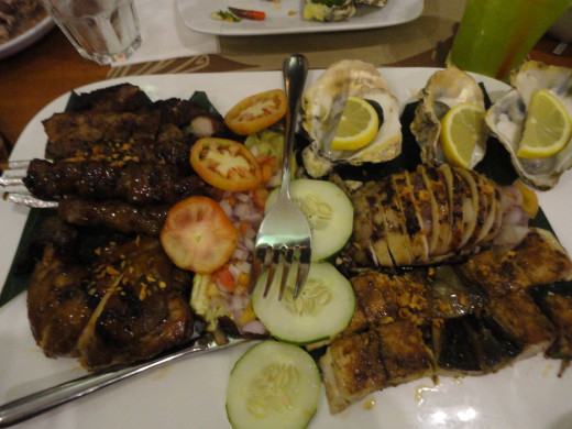 Delos Santos, family platter combinations of the best