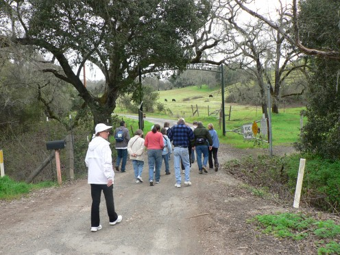 Lake Hennessy in Napa with the Hiking club from Benicia, Ca.