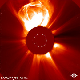 Coronal mass ejections occur on the sun when magnetic fields between sunspot pairs snap and release billions of tons of supercharged ions and electrons into space. Sometimes these head straight to earth.