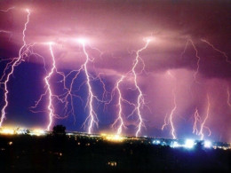 Lightning is a common experience to humanity and represents a huge amount of power. Some reports suggest that there are some 100,000 lightning strikes a second on the earth and each one represents anywhere from 20 to 100 million volts.