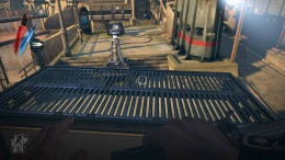 Dishonored - defeat the guards by turning the arc pylon against them and then get onto Kaldwin's Bridge