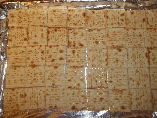 Crackers laid out.