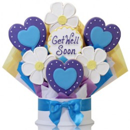 Get Well Soon Hearts & Flowers Bouquet