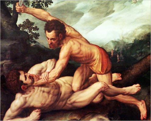Cain murders Abel (Genesis 4:8)