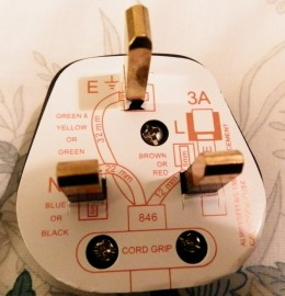 UK plug with wiring diagram