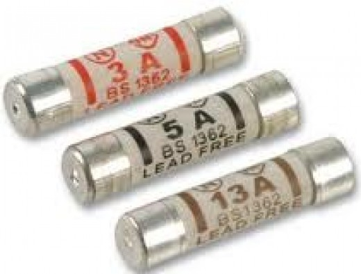 3A, 5A and 13A fuses