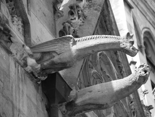 Worn Gargoyles, Paris