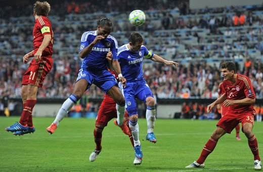 Didier Drogba equalises with a stunning header