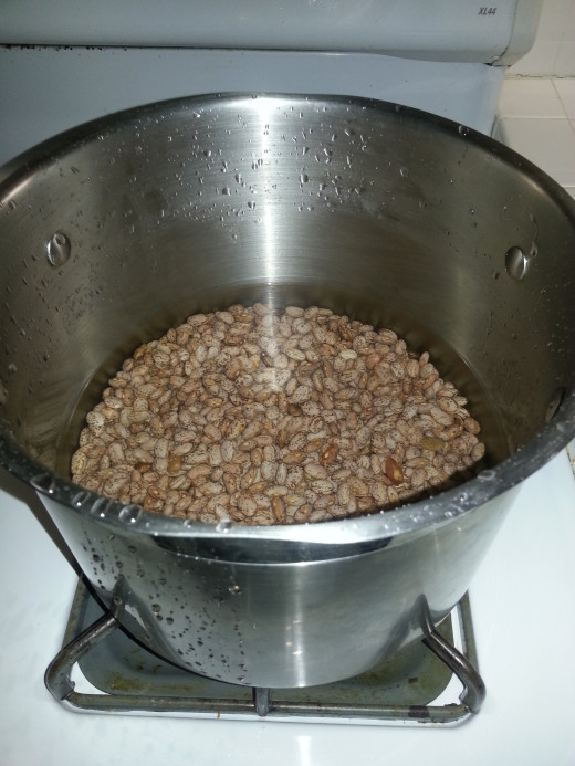 Soak beans for about an hour before cooking.