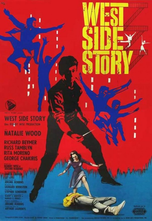 West Side Story (1961) Italian poster