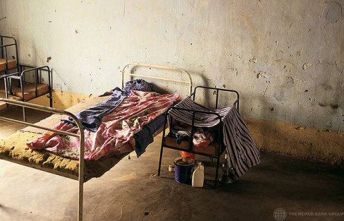 Health clinics in other countries may be very different from what you're used to at home.  This is a hospital bed in Mali.
