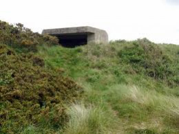 WWII concrete Gun emplacement from the 'business' side, many were built along the east coast and still remain. Some are buried in sand, some broken apart by cliff erosion